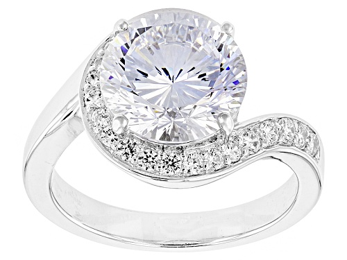 Photo of Bella Luce ® Dillenium Cut 6.55ctw Rhodium Over Sterling Silver Ring (4.17ctw Dew) - Size 10