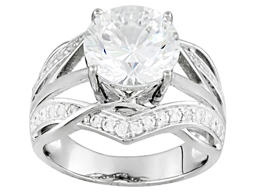 Photo of Bella Luce ® Dillenium Cut 5.16ctw Rhodium Over Sterling Silver Ring (3.13ctw Dew) - Size 8