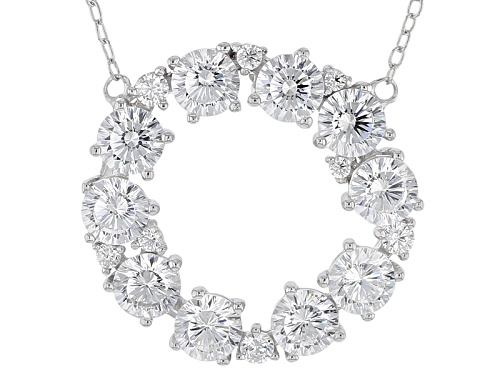 Photo of Bella Luce ® Dillenium 4.77ctw Rhodium Over Sterling Silver Necklace (2.65ctw Dew) - Size 18
