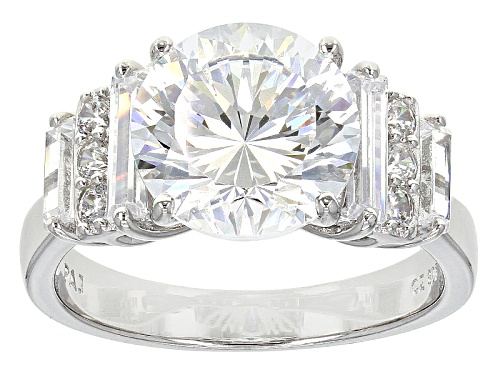 Photo of Bella Luce ® Dillenium 7.47ctw Rhodium Over Sterling Silver Ring (5.03ctw Dew) - Size 8