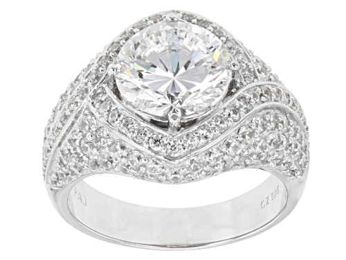 Photo of Bella Luce ® Dillenium Cut 7.11ctw Rhodium Over Sterling Silver Ring (4.31ctw Dew) - Size 8