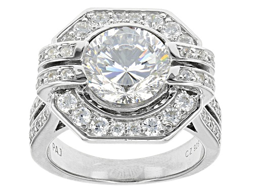 Photo of Bella Luce ® Dillenium Cut 6.80ctw Rhodium Over Sterling Silver Ring (3.89ctw Dew) - Size 8