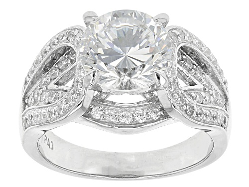 Photo of Bella Luce ® Dillenium 5.61ctw Rhodium Over Sterling Silver Ring (3.43ctw Dew) - Size 5