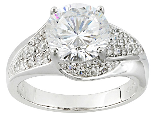 Photo of Bella Luce® Dillenium Cut 5.57ctw Diamond Simulant Rhodium Over Sterling Silver Ring (3.30ctw Dew) - Size 10