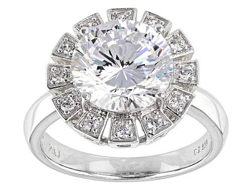 Photo of Bella Luce® Dillenium Cut 6.33ctw Diamond Simulant Rhodium Over Sterling Silver Ring (4.05ctw Dew) - Size 8