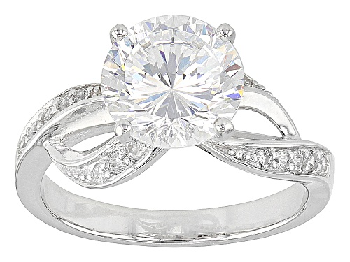Photo of Bella Luce ® Dillenium Cut 4.93ctw Rhodium Over Sterling Silver Ring (2.96ctw Dew) - Size 8
