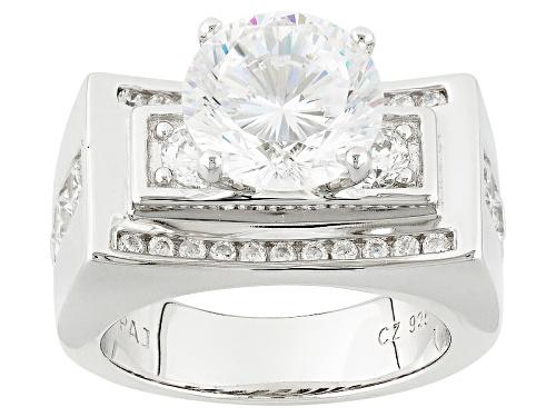 Photo of Bella Luce ® Dillenium Cut 6.70ctw Rhodium Over Sterling Silver Ring (3.97ctw Dew) - Size 8