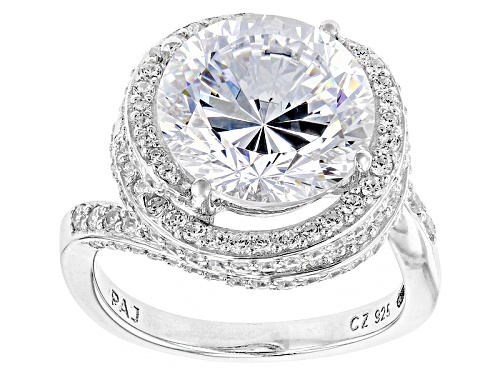 Photo of Bella Luce ® 13.23ctw Dillenium Cut Rhodium Over Sterling Silver Ring (8.44ctw Dew) - Size 9