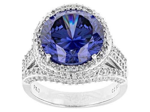 Photo of Bella Luce ® Dillenium 11.57ctw Tanzanite And White Diamond Simulants Rhodium Over Silver Ring - Size 10