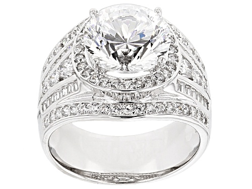 Photo of Bella Luce ® Dillenium 7.84ctw Rhodium Over Sterling Silver Ring (5.28ctw Dew) - Size 10