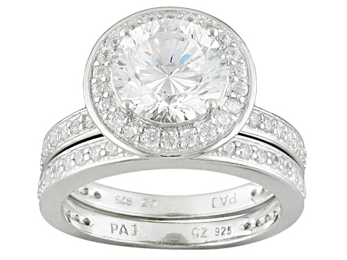 Photo of Bella Luce ® Dillenium 4.48ctw Rhodium Over Sterling Silver Ring With Band (2.91ctw Dew) - Size 11