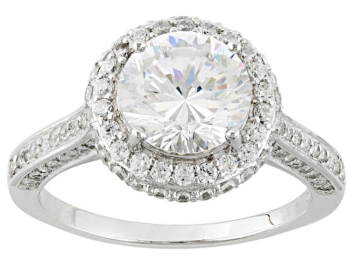 Photo of Bella Luce® Dillenium Cut 4.37ctw Diamond Simulant Rhodium Over Sterling Silver Ring (2.82ctw Dew) - Size 8