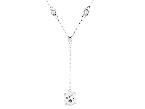 Photo of Bella Luce ® Dillenium Cut 4.25ctw Diamond Simulant Rhodium Over Sterling Necklace (2.73ctw Dew) - Size 18