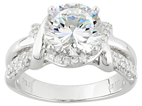 Photo of Bella Luce® Dillenium Cut 5.18ctw Diamond Simulant Rhodium Over Sterling Silver Ring (3.13ctw Dew) - Size 8