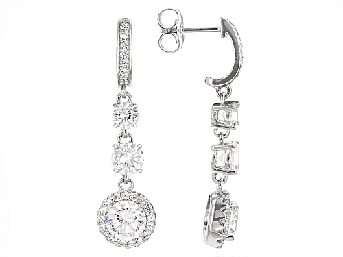 Photo of Bella Luce ® 8.91ctw Dillenium White Diamond Simulant Rhodium Over Sterling Silver Earrings