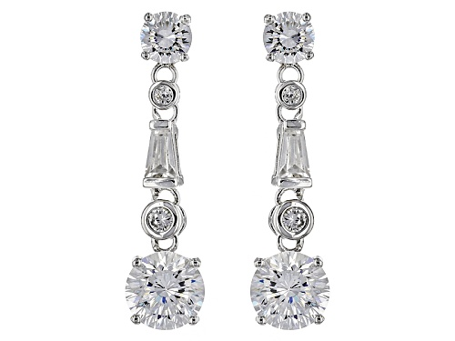 Photo of Bella Luce ® 4.14ctw Dillenium White Diamond Simulant Rhodium Over Sterling Silver Earrings