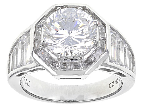 Photo of Bella Luce® Dillenium Cut 7.84ctw Diamond Simulant Rhodium Over Sterling Silver Ring (3.95ctw Dew) - Size 7