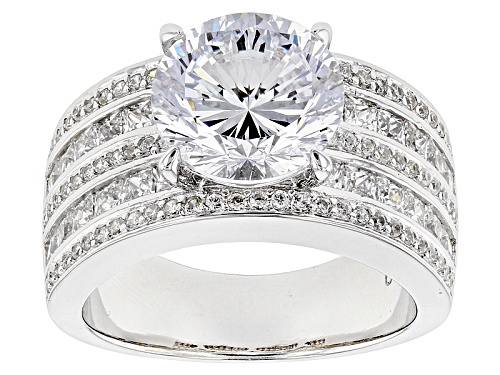 Photo of Bella Luce ® 8.45ctw Dillenium Diamond Simulant Rhodium Over Sterling Silver Ring (5.70ctw Dew) - Size 10