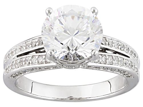 Photo of Bella Luce ® Dillenium 5.59ctw Diamond Simulant Rhodium Over Sterling Silver Ring (3.40ctw Dew) - Size 9