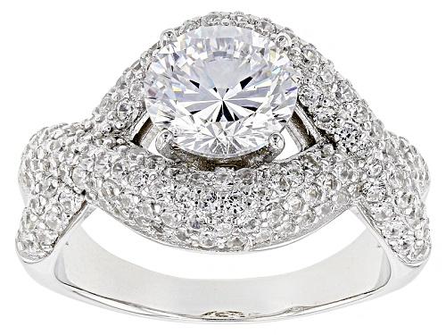 Photo of Bella Luce ® 5.47ctw Dillenium Diamond Simulant Rhodium Over Sterling Silver Ring (3.59ctw Dew) - Size 7