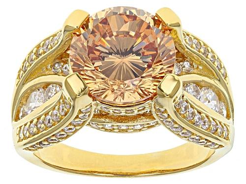 Photo of Bella Luce ® 8.67ctw Dillenium Champagne & White Diamond Simulants Eterno ™ Yellow Ring - Size 5