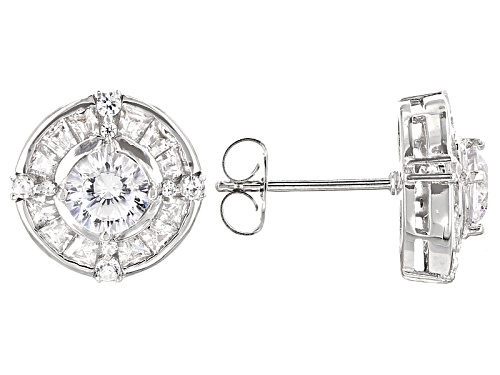 Photo of Bella Luce ® 2.88ctw Dillenium White Diamond Simulant Rhodium Over Sterling Silver Earrings