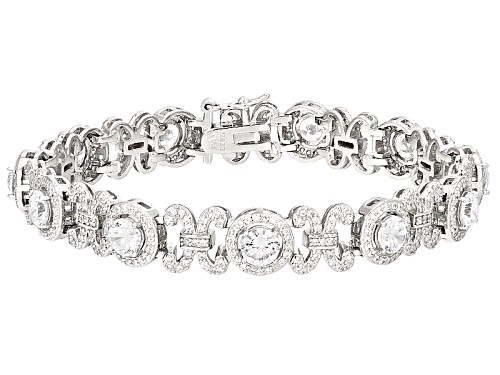 Photo of Bella Luce ® 11.79ctw Dillenium White Diamond Simulant Rhodium Over Sterling Silver Bracelet - Size 7.25