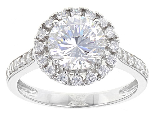 Photo of Bella Luce® Dillenium Cut 3.85ctw Diamond Simulant Rhodium Over Sterling Silver Ring (2.46ctw Dew) - Size 12