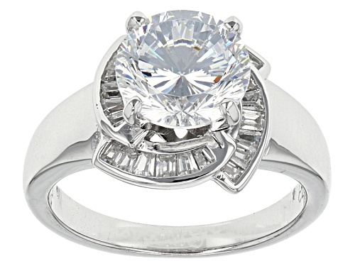 Photo of Bella Luce® Dillenium Cut 5.19ctw Diamond Simulant Rhodium Over Sterling Silver Ring (3.28ctw Dew) - Size 8