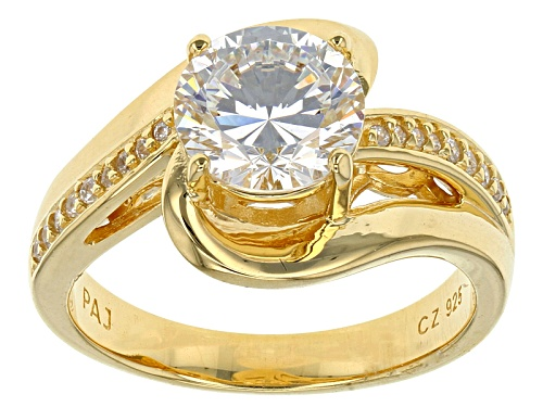 Photo of Bella Luce® Dillenium Cut 3.36ctw Diamond Simulant Eterno ™ Yellow Ring (2.18ctw Dew) - Size 10