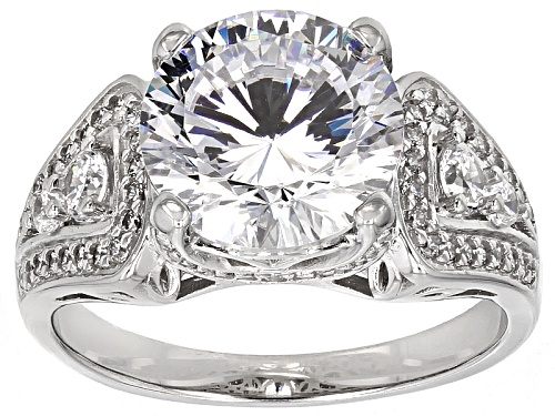 Photo of Bella Luce ® Dillenium 6.87ctw Diamond Simulant Rhodium Over Sterling Silver Ring (4.37ctw Dew) - Size 7