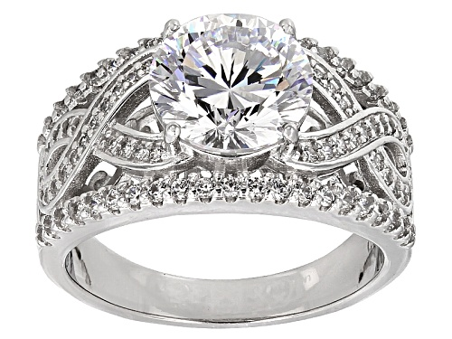 Photo of Bella Luce ® Dillenium 5.55ctw Diamond Simulant Rhodium Over Sterling Silver Ring (3.38ctw Dew) - Size 8