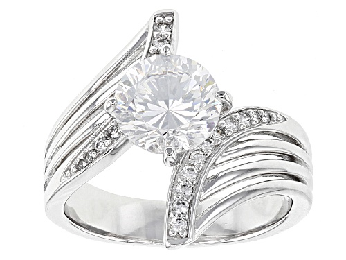 Photo of Bella Luce® Dillenium Cut 3.45ctw Diamond Simulant Rhodium Over Sterling Silver Ring (2.24ctw Dew) - Size 5
