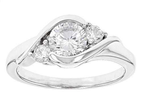 Photo of Bella Luce® Dillenium Cut 1.74ctw Diamond Simulant Rhoidum Over Sterling Silver Ring (1.06ctw Dew) - Size 11