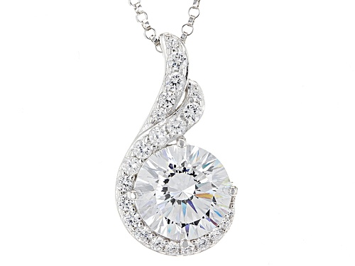 Photo of Bella Luce ® Dillenium Cut 6.84ctw Rhodium Over Sterling Silver Pendant With Chain (4.30ctw Dew)