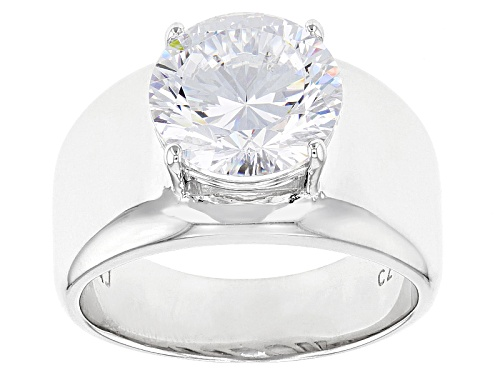 Photo of Bella Luce® Dillenium Cut 6.03ctw Diamond Simulant Rhodium Over Sterling Silver Ring (3.87ctw Dew) - Size 7