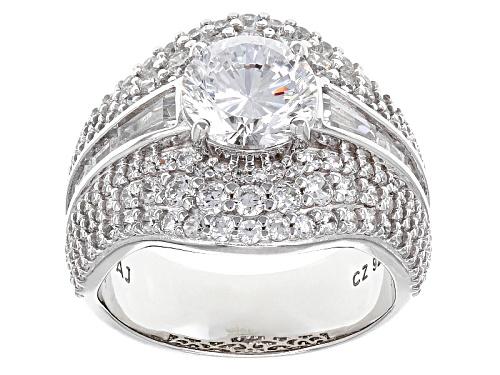 Photo of Bella Luce ® Dillenium Cut 7.21ctw Diamon Simulant Rhodium Over Sterling Silver Ring (4.65ctw Dew) - Size 7