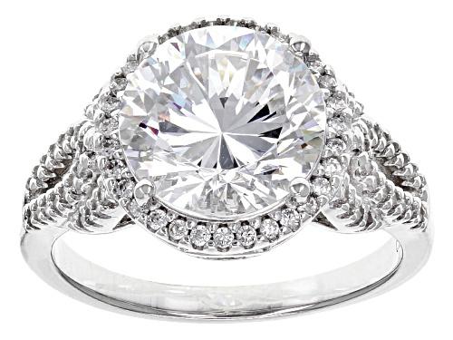 Photo of Bella Luce ®Dillenium Cut 6.72ctw Diamond Simulant Rhodium Over Sterling Silver Ring (4.25ctw Dew) - Size 7