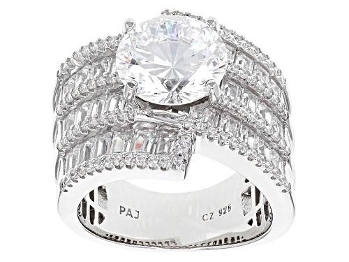 Photo of Bella Luce®Dillenium Cut 10.63ctw Diamond Simulant Rhodium Over Sterling Silver Ring (7.55ctw Dew) - Size 7