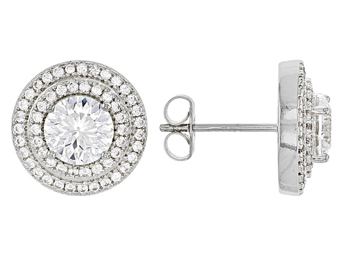 Photo of Bella Luce ® Dillenium 4.05CTW Diamond Simulant Rhodium Over Sterling Silver Earrings
