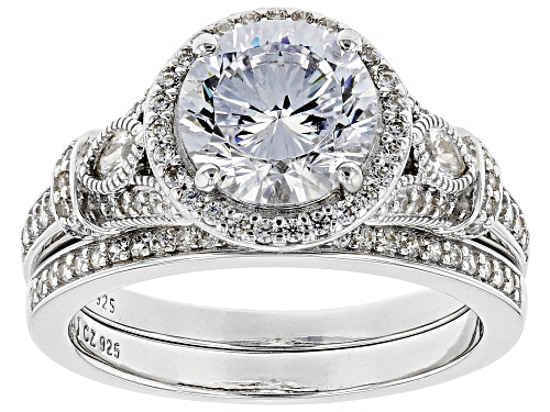 Photo of Bella Luce (R) Dillenium Cut 4.55ctw Rhodium Over Sterling Silver Ring With Band (2.96ctw DEW) - Size 12