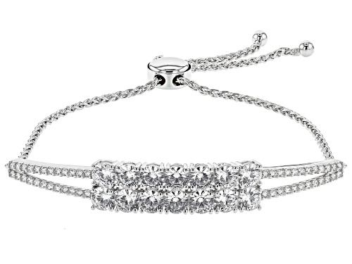 Photo of Bella Luce (R) Dillenium Cut 7.05ctw Rhodium Over Sterling Silver Adjustable Bracelet
