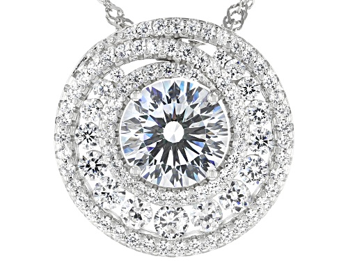 Photo of Bella Luce ® 7.18ctw Rhodium Over Sterling Silver Pendant With Chain (4.26ctw DEW)