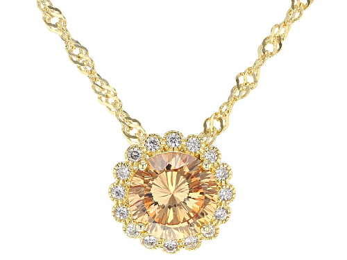 Photo of Bella Luce ® 3.47ctw Champagne and White Diamond Simulants Eterno ™ Yellow Pendant With Chain