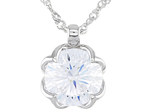 Photo of Bella Luce ® Dillenium 8.83ctw Rhodium Over Sterling Solitare Pendant With Chain (4.91ctw DEW)
