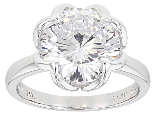 Photo of Bella Luce ® Dillenium 8.83ctw Rhodium Over Sterling Silver Solitare Ring (4.91ctw DEW) - Size 6