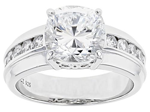 Photo of Bella Luce® 6.30ctw Dillenium White Diamond Simulant Rhodium Over Sterling Silver Ring (3.15ctw DEW) - Size 10