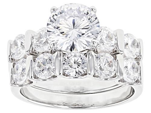 Photo of Bella Luce ® 7.20ctw Dillenium White Diamond Simulant Rhodium Over Sterling Silver (4.29ctw DEW) - Size 8