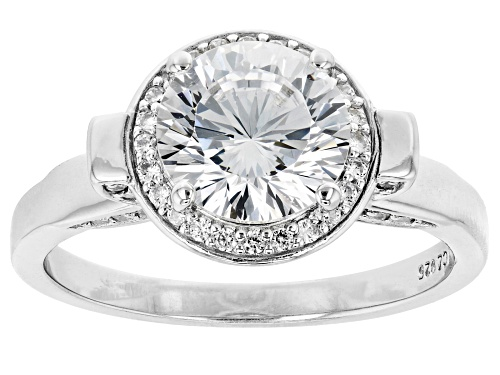 Photo of Bella Luce ® Dillenium Cut 3.62ctw Rhodium Over Sterling Silver Ring (2.3ctw DEW) - Size 8