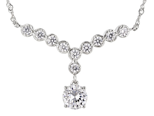 Photo of Bella Luce ® 3.24ctw Dillenium Rhodium Over Sterling Silver Necklace (1.88ctw DEW) - Size 18